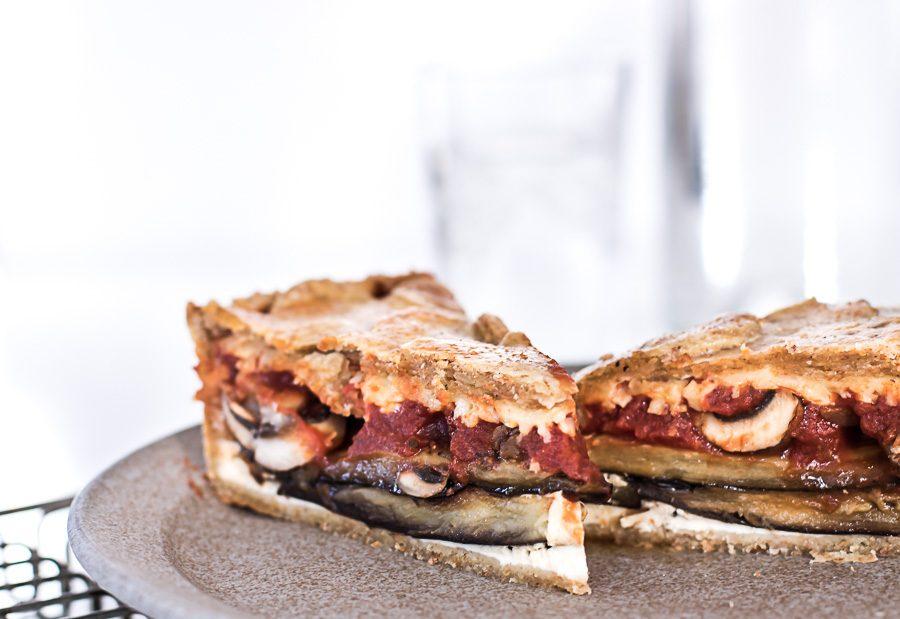 Auberginepie - den lækreste vegetariske pie