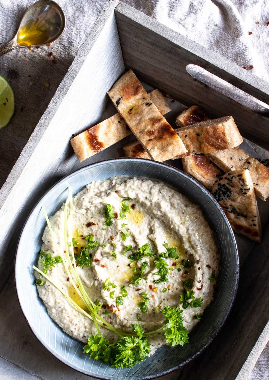 Baba ganoush - skøn libanesisk auberginedip