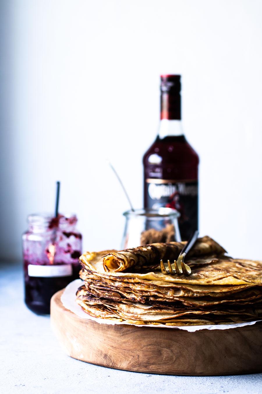 Pandekager med øl – og sprøde kanter