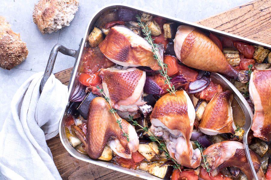 Røget kylling i ovn