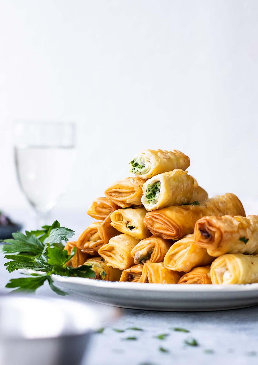 Sprøde filoruller med feta - sigara börek