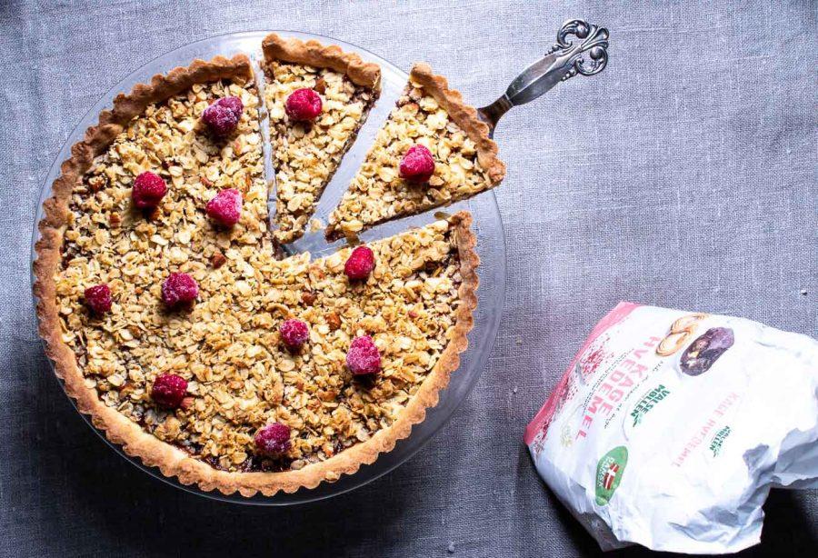 Havretærte med hindbær – overraskende god