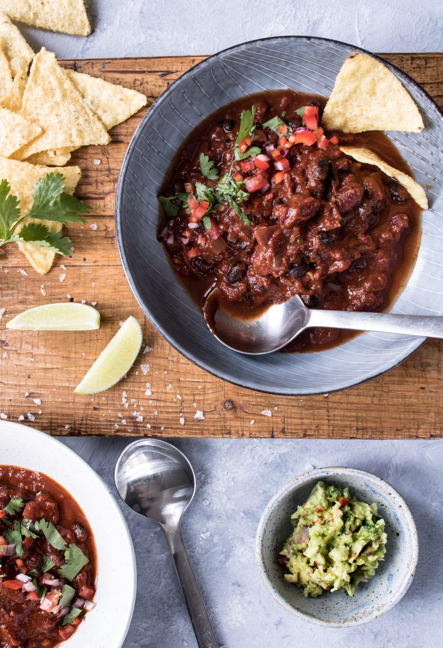 Chili sin carne - opskrift på vegetarisk chili