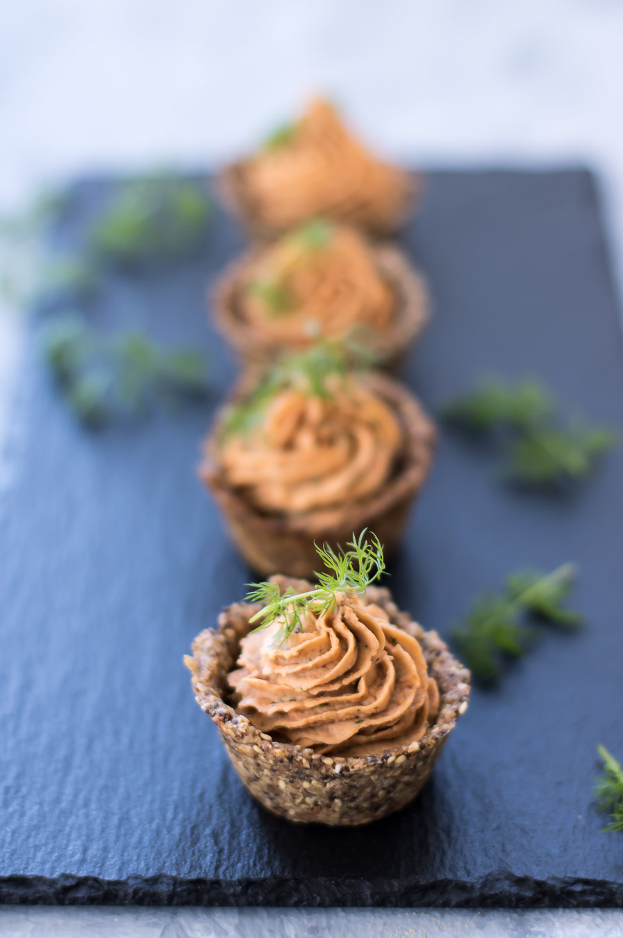 Rugtarteletter som vegetarisk snack