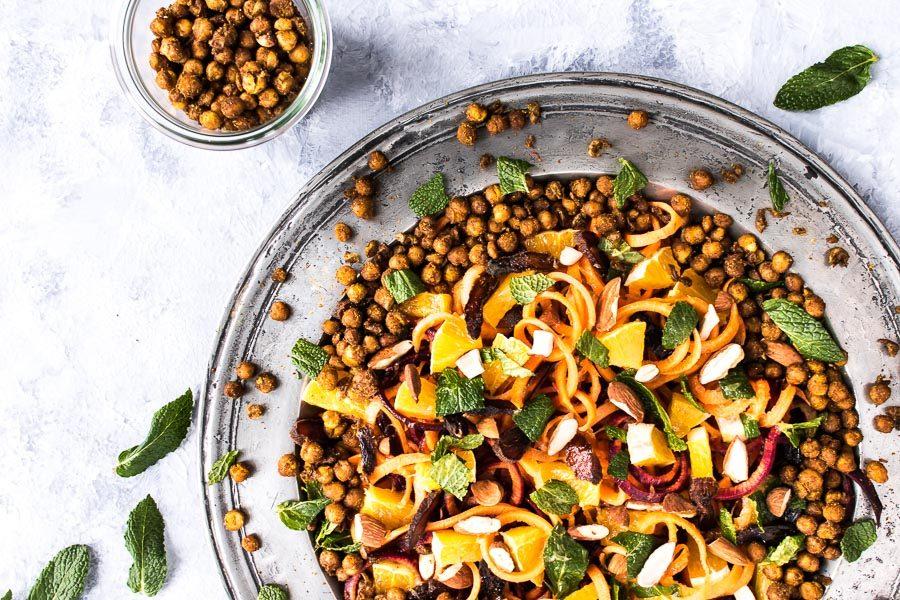 Gulerodssalat - marokkansk salat med appelsin og mynte