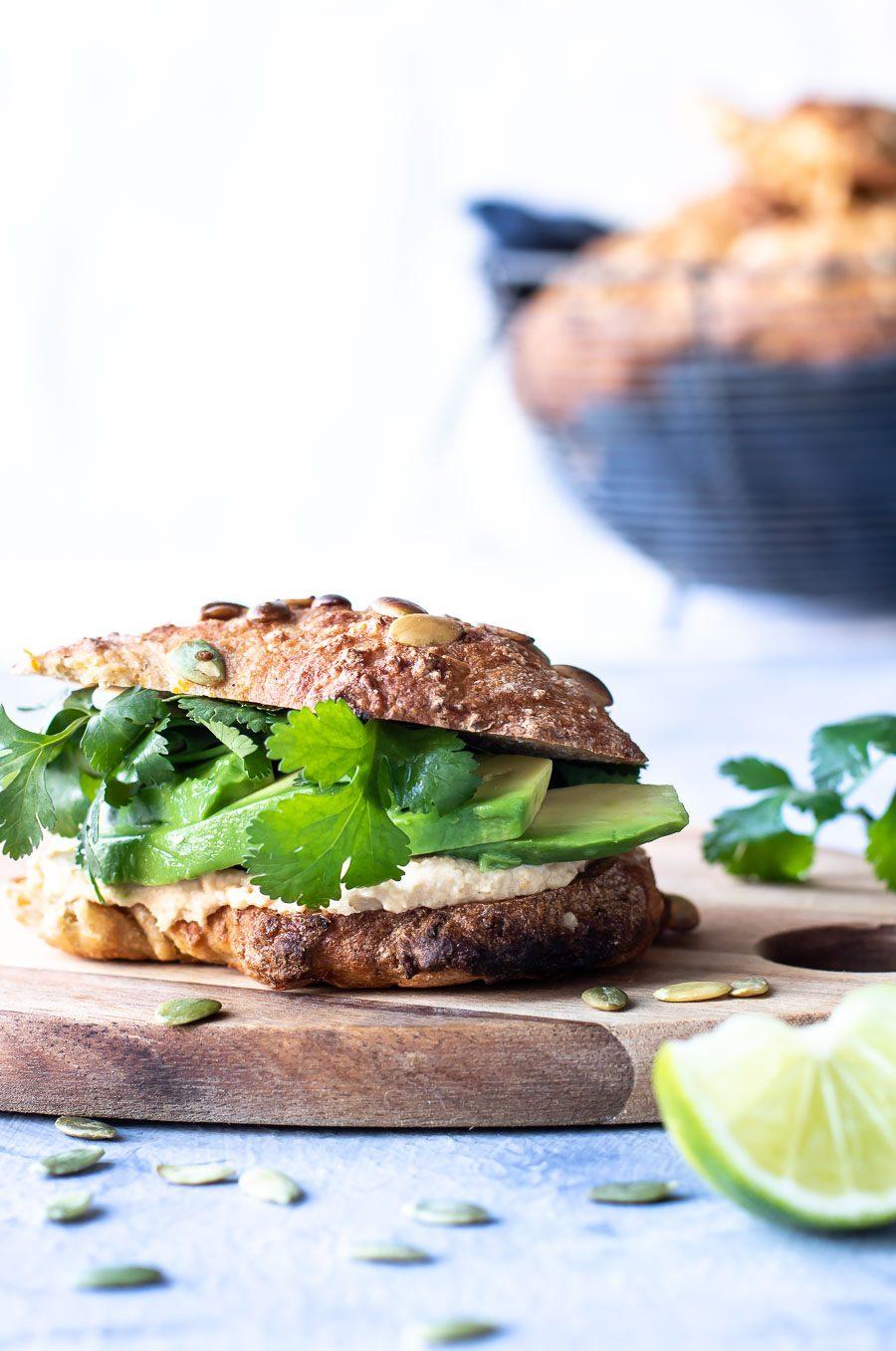 Saftige sandwichboller med græskar