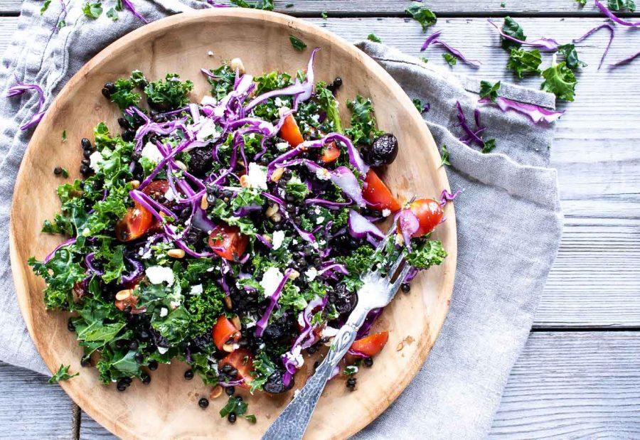 Græsk vintersalat med feta og oliven