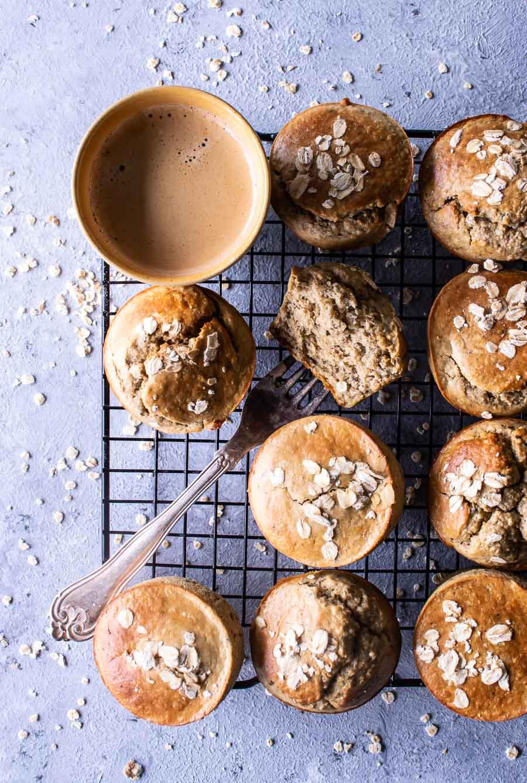 Sunde bananmuffins uden sukker og mel
