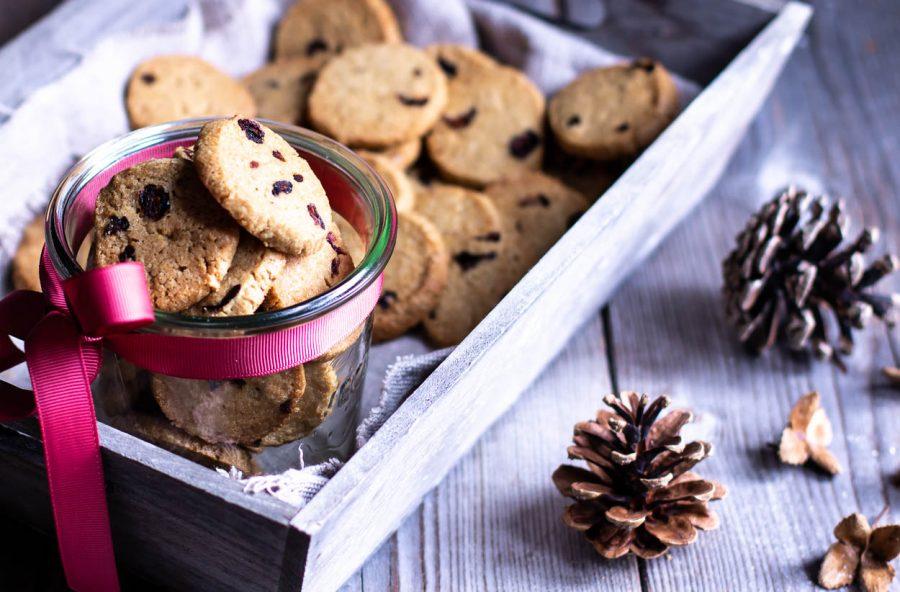 Lakridssmåkager – cookies med lakrids og tranebær