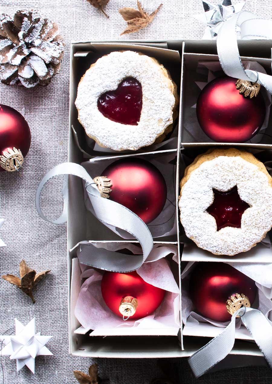 Linzer cookies - østrigske julesmåkager