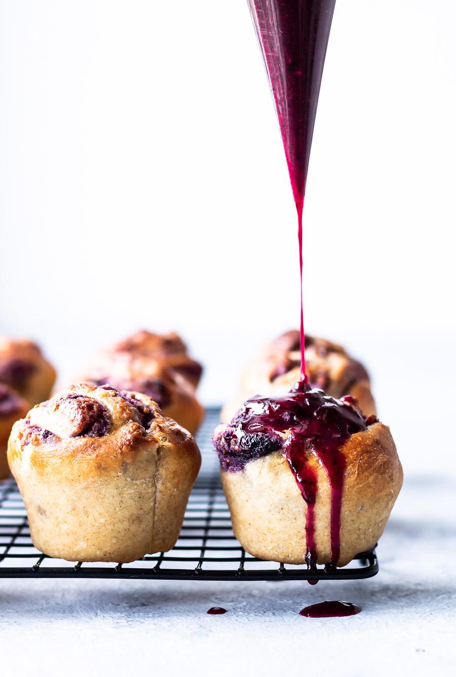 Blåbærsnegle i muffinforme