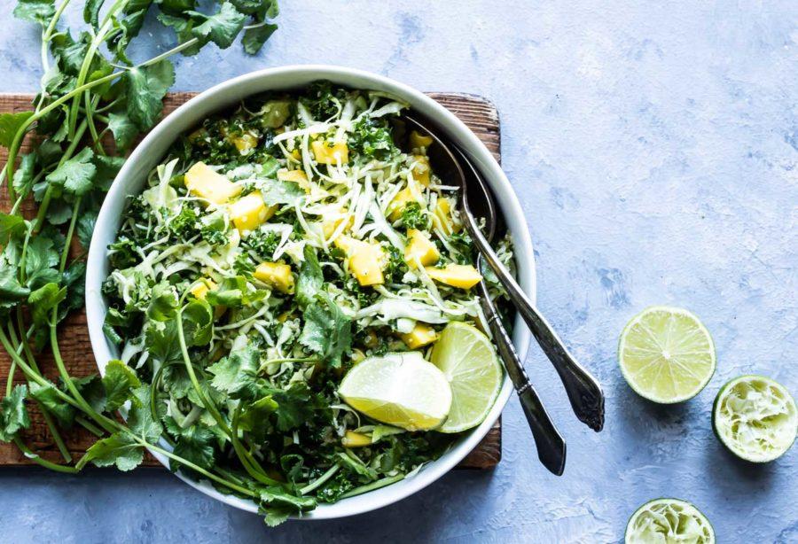 Mexicansk salat - kålsalat med mango og avocado