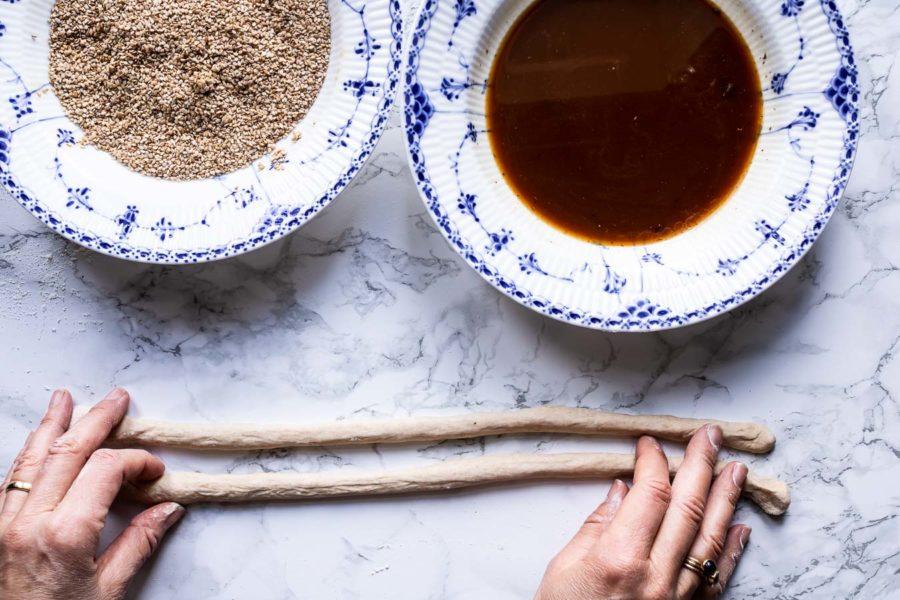 Simit - tyrkiske brødringe med sesam