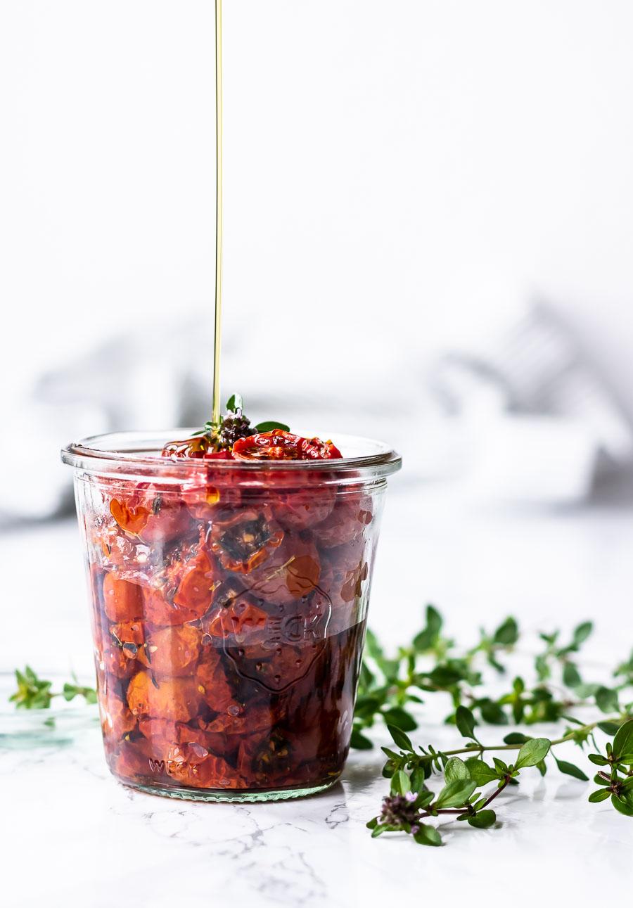 Langtidsbagte tomater i ovn - semidried tomater