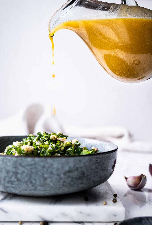 Olie-eddike dressing salat